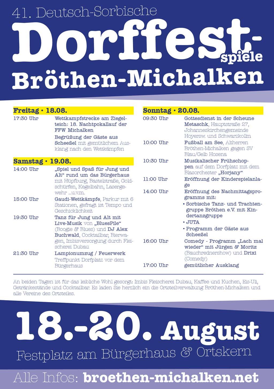 Programm Dorffest 2017